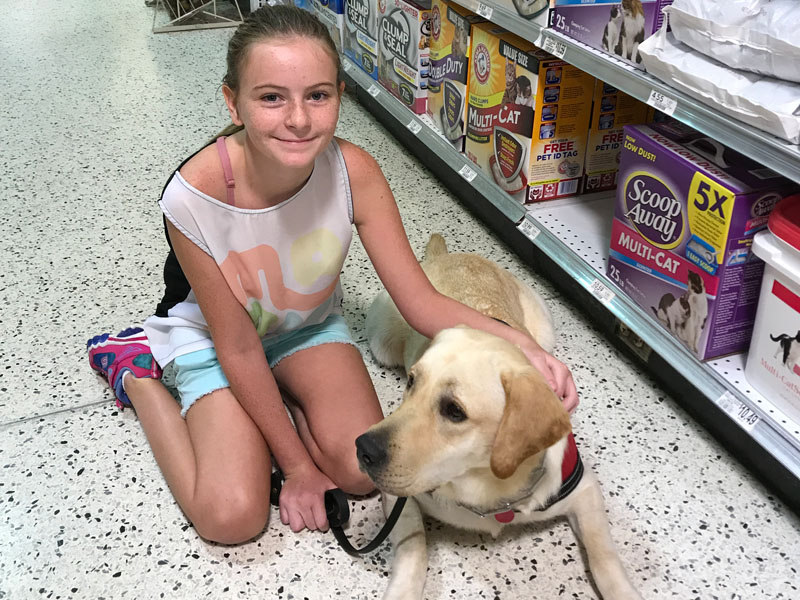 Becky with her Seizure Service Dog, Max
