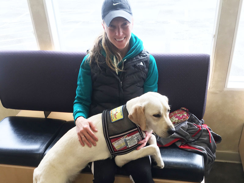 Holly and Bella, a Seizure Service Dog.